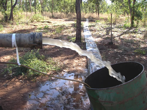Irrigation Fluming over rough terrain